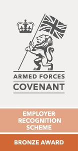 Armed Forces Covenant Employer Recognition Scheme Bronze Award logo